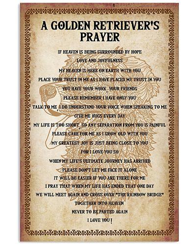 Dog Golden Retriever's Prayer