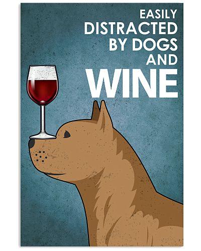 Dog PitBull And Wine