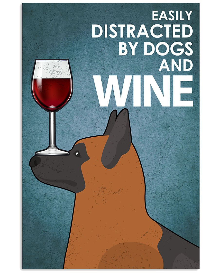 Dog K9 And Wine 16x24 Poster