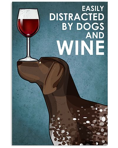 Dog German Shorthaired Pointer  And Wine