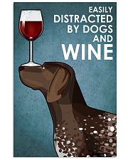 Dog German Shorthaired Pointer  And Wine 16x24 Poster front