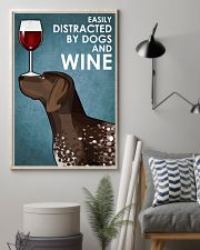Dog German Shorthaired Pointer  And Wine 16x24 Poster lifestyle-poster-1