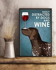 Dog German Shorthaired Pointer  And Wine 16x24 Poster lifestyle-poster-3