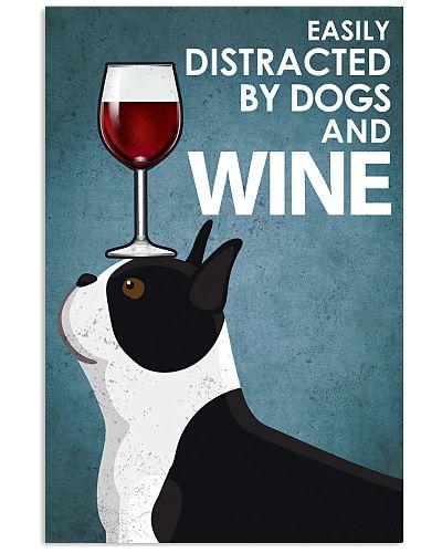 Dog Boston And Wine