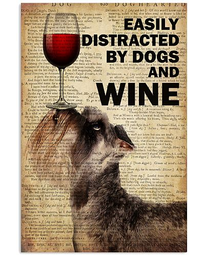 Dog Schnauzer And Wine