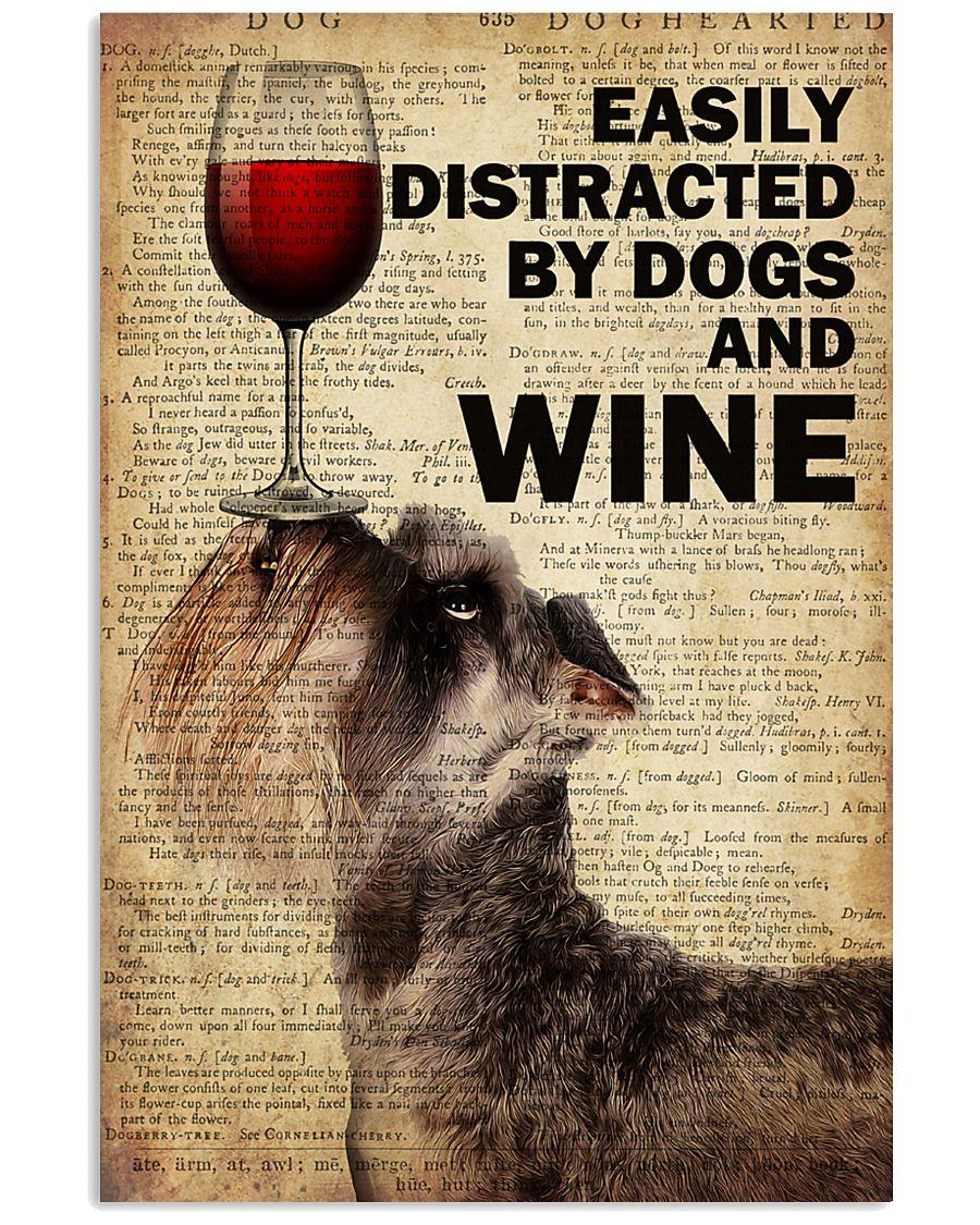 Dog Schnauzer And Wine 16x24 Poster