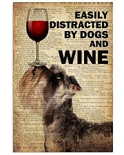 Dog Schnauzer And Wine 16x24 Poster front