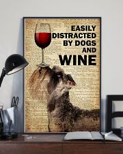 Dog Schnauzer And Wine 16x24 Poster lifestyle-poster-2
