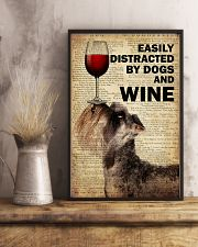 Dog Schnauzer And Wine 16x24 Poster lifestyle-poster-3