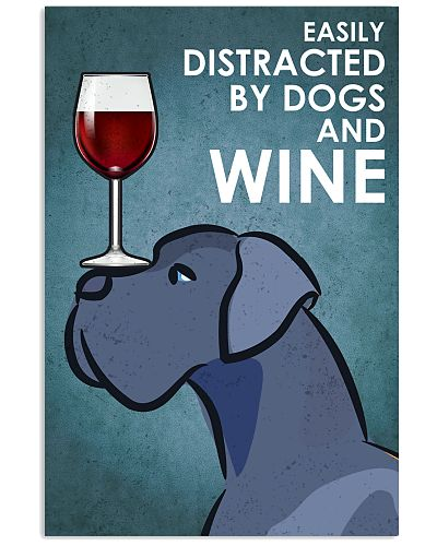 Dog Great Dane And Wine