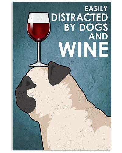 Dog Pug And Wine