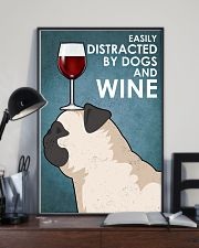 Dog Pug And Wine 16x24 Poster lifestyle-poster-2