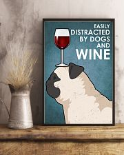 Dog Pug And Wine 16x24 Poster lifestyle-poster-3