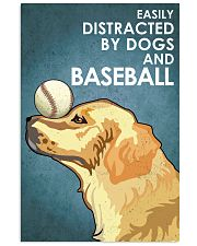 Dog Golden And Baseball 16x24 Poster front