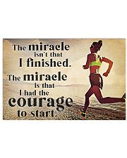 Running The Miracle Isn't That I Finished 36x24 Poster front