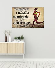 Running The Miracle Isn't That I Finished 36x24 Poster poster-landscape-36x24-lifestyle-01