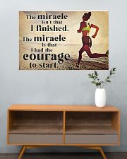 Running The Miracle Isn't That I Finished 36x24 Poster poster-landscape-36x24-lifestyle-21