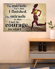 Running The Miracle Isn't That I Finished 36x24 Poster poster-landscape-36x24-lifestyle-22