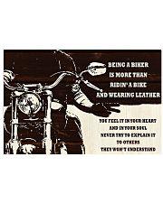 Biker Being A Biker 36x24 Poster front