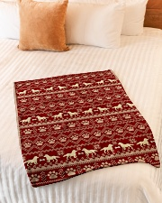 "Dog  Small Fleece Blanket - 30"" x 40"" aos-coral-fleece-blanket-30x40-lifestyle-front-01"