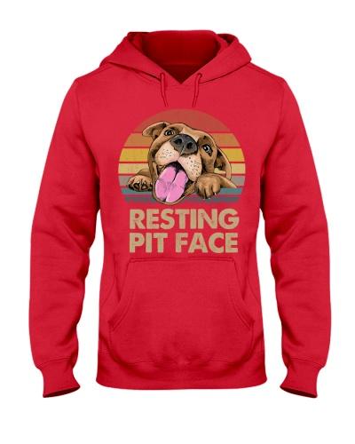 Dog Pitbull Resting Pit Face