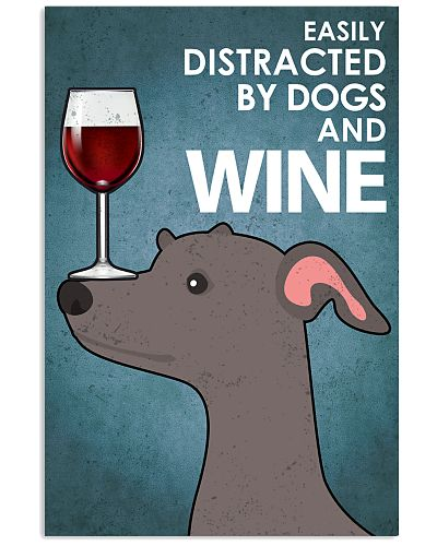 Dog Greyhound And Wine