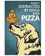 Dog Golden And Pizza 16x24 Poster front
