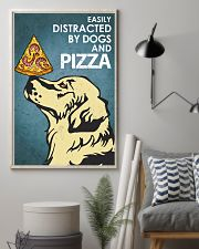 Dog Golden And Pizza 16x24 Poster lifestyle-poster-1