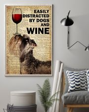 Dog Schnauzer And Wine 16x24 Poster lifestyle-poster-1