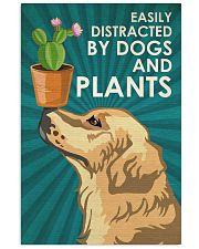 Dog Golden And Plants 24x36 Poster front