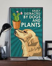 Dog Golden And Plants 24x36 Poster lifestyle-poster-2