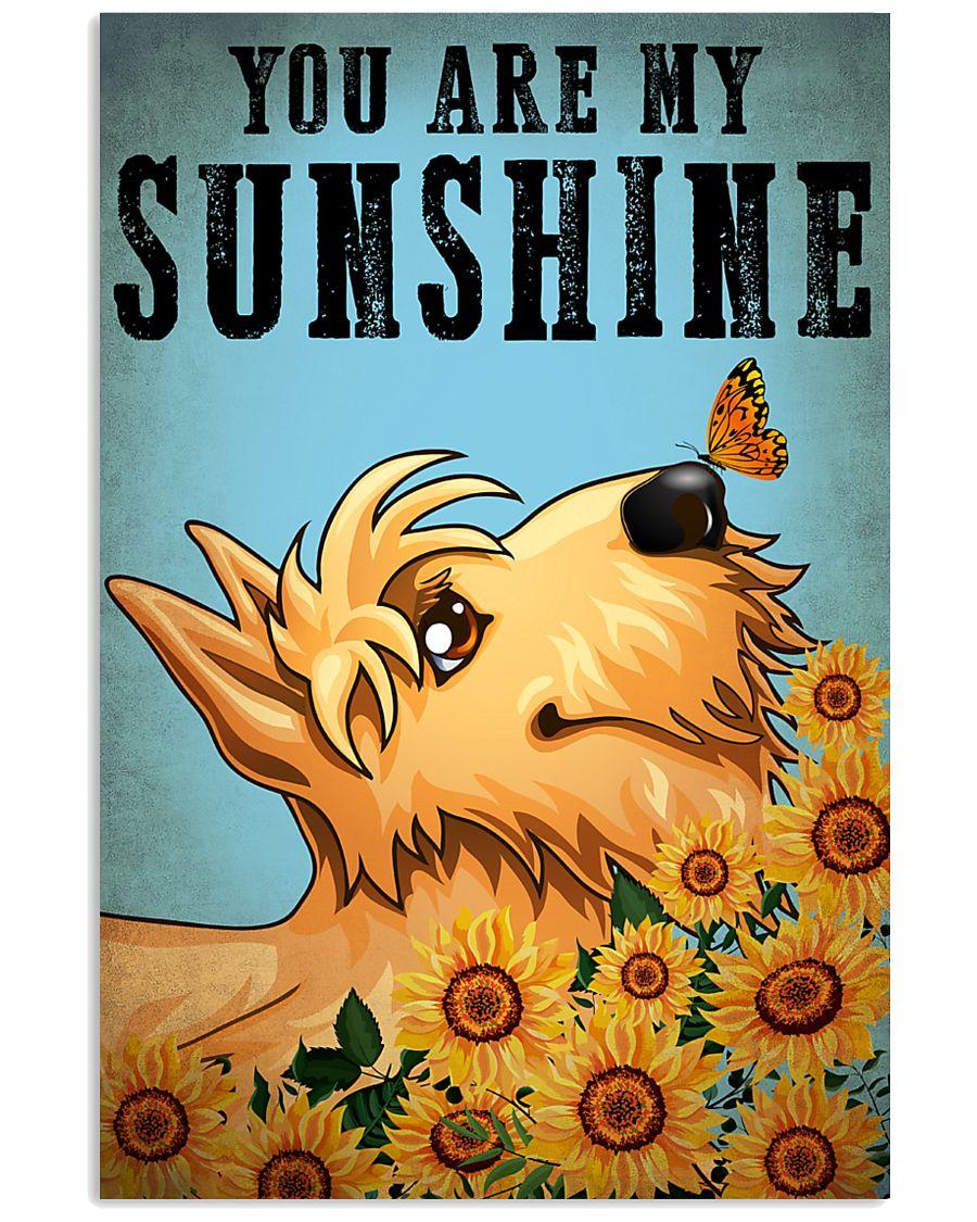 Dog Schnauzer You Are My Sunshine 16x24 Poster