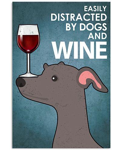 Dog Greyhound And Wine