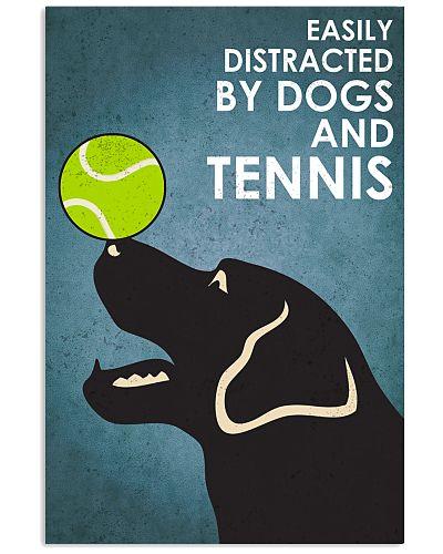 Dog Labrador And Tennis