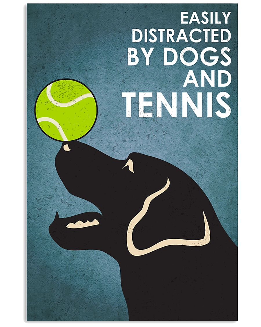 Dog Labrador And Tennis 16x24 Poster