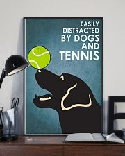 Dog Labrador And Tennis 16x24 Poster lifestyle-poster-2