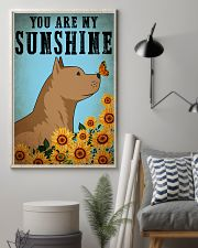 Dog Pitbull You Are My Sunshine 16x24 Poster lifestyle-poster-1
