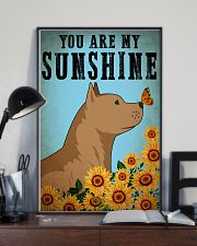 Dog Pitbull You Are My Sunshine 16x24 Poster lifestyle-poster-2