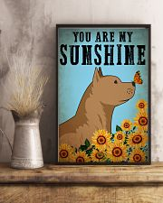 Dog Pitbull You Are My Sunshine 16x24 Poster lifestyle-poster-3
