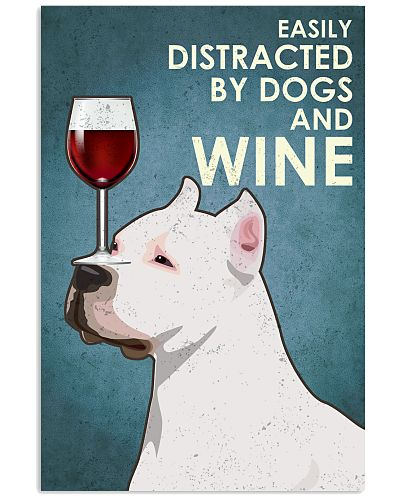 Dog American Pit Bull Terrier  And Wine