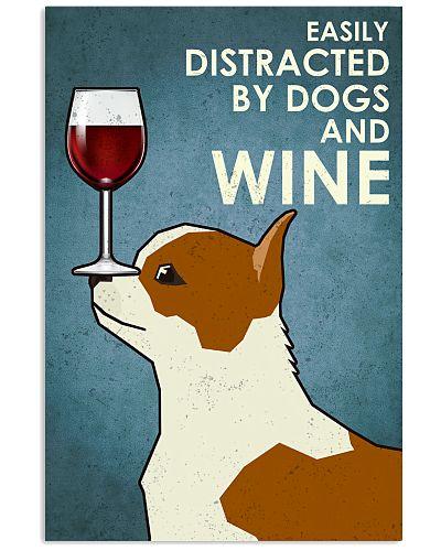 Dog Chihuahua And Wine