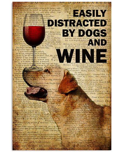 Dog Labradorr And Wine