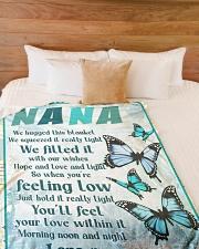 "Family Nana Large Fleece Blanket - 60"" x 80"" aos-coral-fleece-blanket-60x80-lifestyle-front-02"