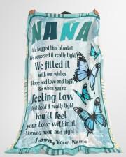 "Family Nana Large Fleece Blanket - 60"" x 80"" aos-coral-fleece-blanket-60x80-lifestyle-front-10"
