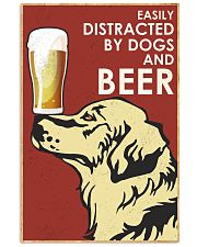 Dog Golden And Beer 16x24 Poster front