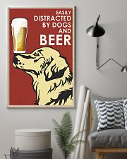 Dog Golden And Beer 16x24 Poster lifestyle-poster-1