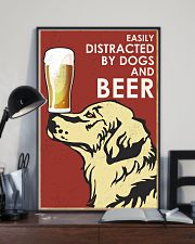 Dog Golden And Beer 16x24 Poster lifestyle-poster-2