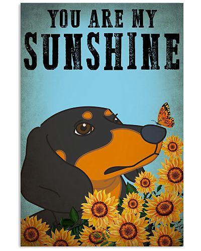 Dog Dashsund You Are My Sunshine