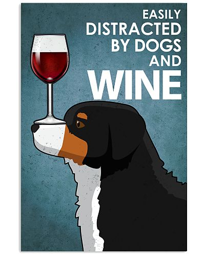 Dog Bernese Mountain And Wine