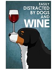 Dog Bernese Mountain And Wine 16x24 Poster front